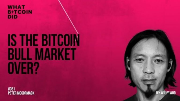 Is the Bitcoin Bull Market Over? Listen to what Willy Woo Says